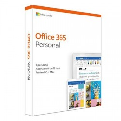 Microsoft Office 365 Personal, Romana, Subscriptie 1 an - 1 utilizator, pentru Windows/Mac, iOS si Android