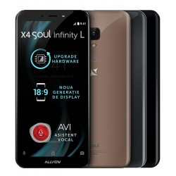 "Telefon mobil Allview X4 Soul Infinity S , 4G, Dual SIM, Fingerprint, Display 5,7"" 18:9 IPS FHD 2.5D, Camera 13+8 Mpx, 8core, 3GB Ram, 16GB, Android 7.0, Mocca Gold"