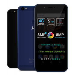 "Telefon Allview X4 Soul Mini S, 5"", Quad Core, 16 GB, camera frontala de 8  Mpx, 4G, Fingerprint, Metalic, Blue"